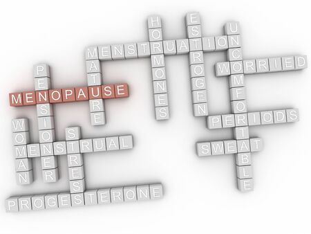 middle aged woman: 3d image Menopause word cloud concept