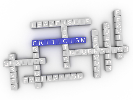 relevance: 3d image Criticism word cloud concept Stock Photo