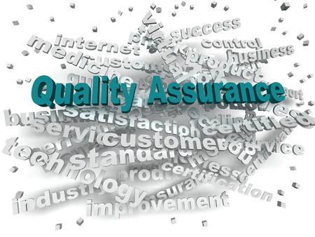 qualities: 3d image Quality Assurance word cloud concept