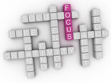 achieve: 3d image Focus word cloud concept Stock Photo