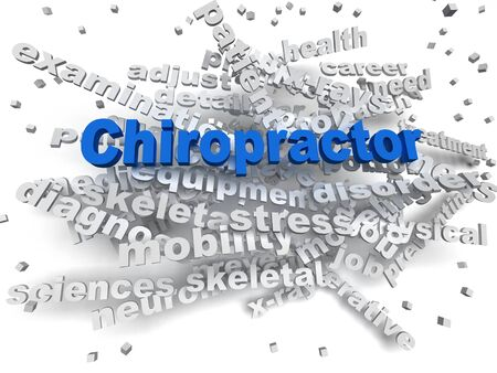 moving in: 3d image Chiropractor word cloud concept Stock Photo