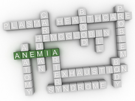 anemia: 3d image Anemia word cloud concept