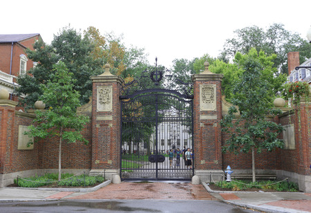 rankings: BOSTON, USA - SEPT 10: The famous Harvard University in Cambridge, MA, USA on September 10, 2016. Regarding rankings of specific indicators, Harvard topped both University Ranking by Academic Performance 2015-2016. Editorial