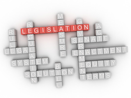 lawmaking: 3d Legislation word cloud concept Stock Photo
