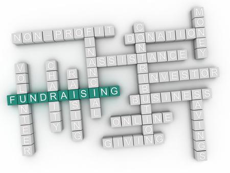 grants: 3d Fundraising word cloud concept