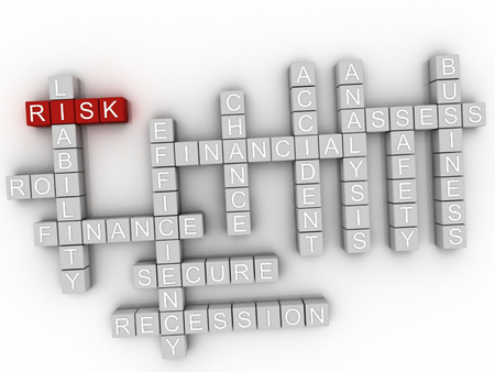 endangerment: 3d Risk word cloud concept Stock Photo