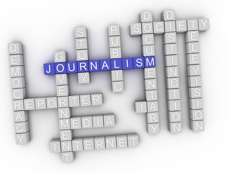 3d Journalism Concept word cloud Stock Photo