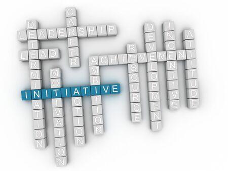 advantages: 3d Initiative Concept word cloud Stock Photo