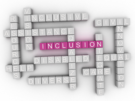 3d Inclusion Concept word cloud Stok Fotoğraf