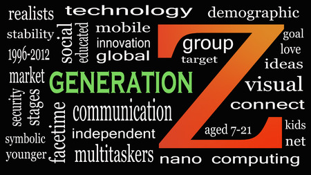 Generation Z in word collage. Marketing and targeting concept Banco de Imagens - 110031033