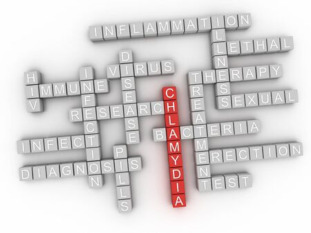 3d Chlamydia word cloud concept - Illustration