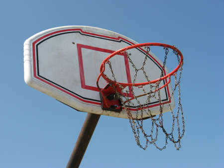 a streetball basket Stock Photo