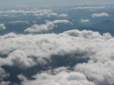 cumuli: mountains from  the air