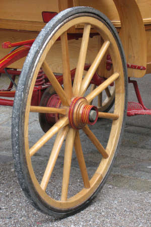 a wheel of retro-style style wagon
