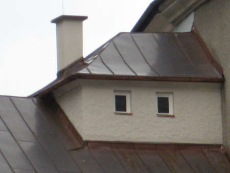 element of the house - roof and chimney