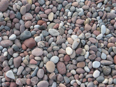 background: round stones of different size and colour photo