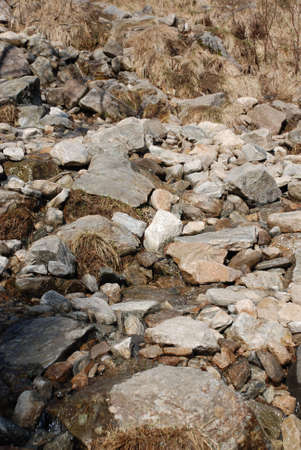 lanscape: ground from stones Stock Photo