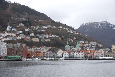 view to Bergen  Norway