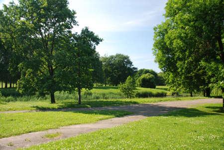 green park zone Stock Photo