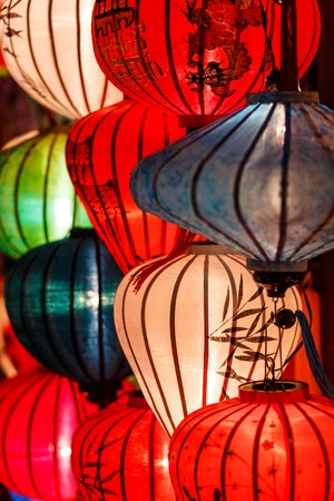 Bunte Papierlaternen in Hoi An, Vietnam.