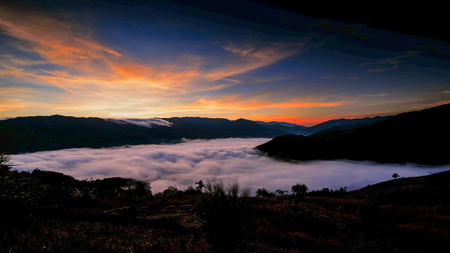 Sea of mist is a sight many people want to witness once in their lifetime Banque d'images