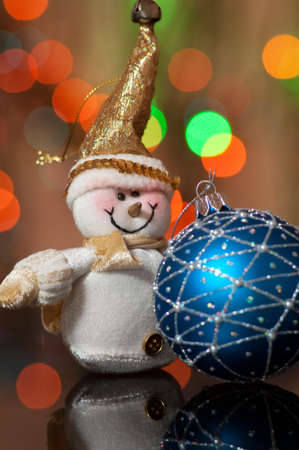 Snowman and Christmas toy photo