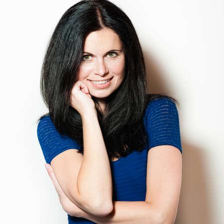 Beautiful young woman, studio photo