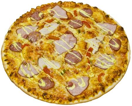 Ham pizza photo