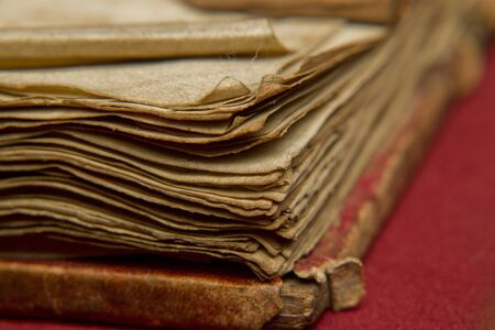 Old, worn book pages