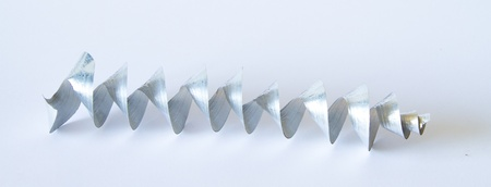 Aluminium spiral chip photo