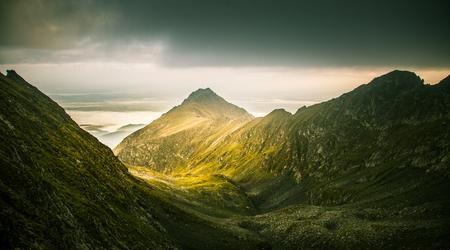 A beautiful mountain landscape in Carpathian mountains Stock Photo