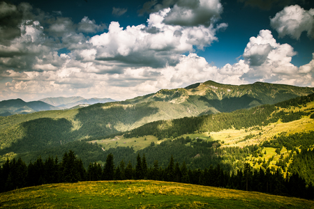 A beautiful mountain landscape in Carpathian mountains Stock Photo