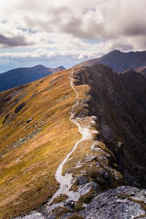 A beautiful mountain landscape in Tatry, Slovakia Stock Photo