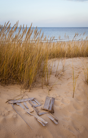 A beautiful landscape of dunes on the coastline of Baltic sea 版權商用圖片