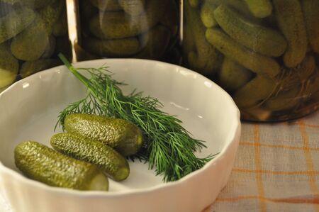 Homemade preserves pickles jar Stock Photo - 8451830