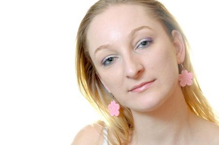 portrait of a sexy fashion blond girl photo