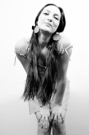 Portrait of a beautiful girl photo