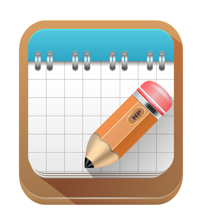 cuaderno espiral: Cuaderno espiral con l�piz Vectores