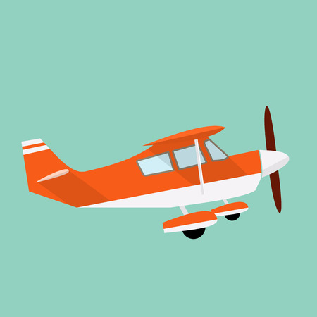 airline pilot: Airplane flat illustration