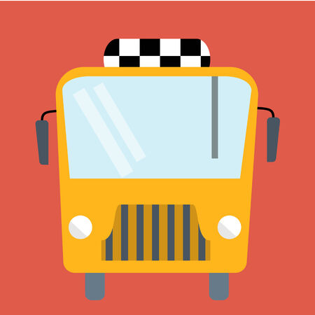 Bus flat illustration Vector