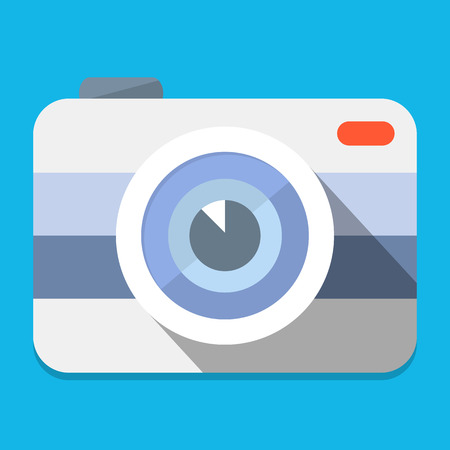 Camera flat illustration Vector