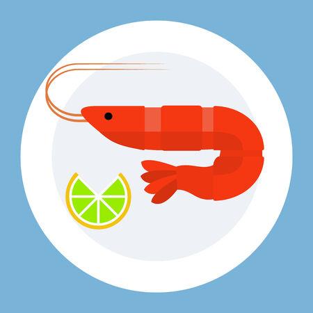 exoskeleton: Shrimp on plate