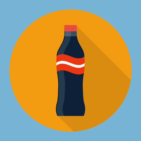 Soda bottle flat icon Stock Vector - 27333691