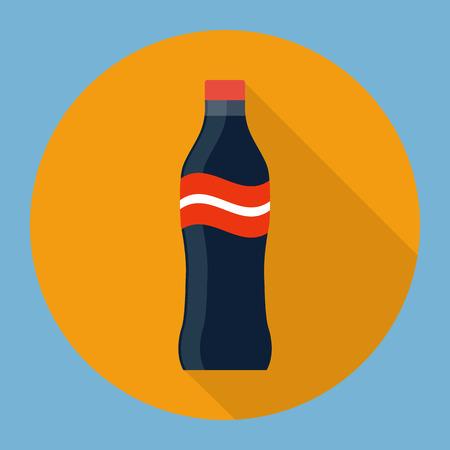 shaken: Soda bottle flat icon