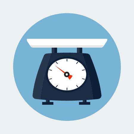balanza en equilibrio: Escala de la cocina ilustración vectorial Vectores