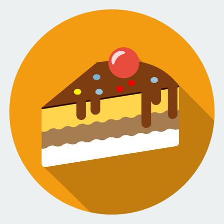 trozo de pastel: Icono de la torta