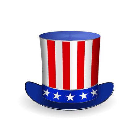 Top Hat for Fourth of July  Vector