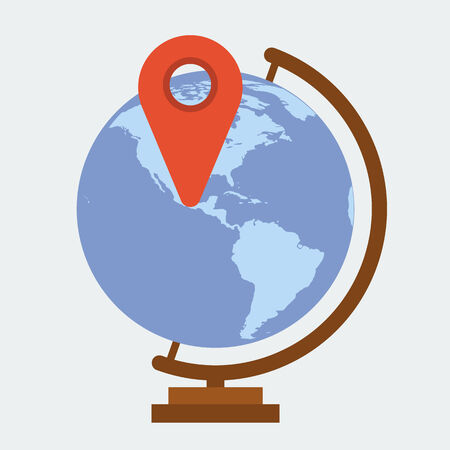 Globe earth flat icon Vector