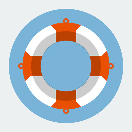 diving save: Vector Lifebuoy Icon
