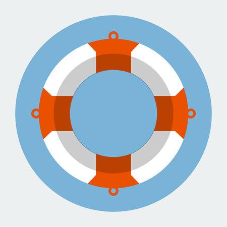 diving save: Vector Lifebuoy Icon